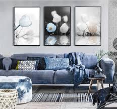 Nordic Simple Mood Tulip Flower 3 Pieces Decorative Painting ...