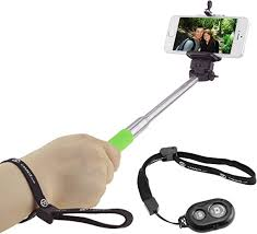 Selfie Stick with Bluetooth Remote for Smartphones ... - Amazon.com