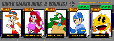 Super Smash Bros 4 Wishlist Meme by TuxedoMoroboshi on DeviantArt via Relatably.com