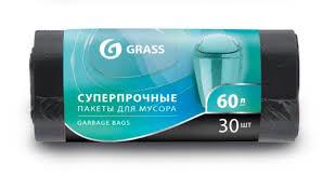 """Купить <b>Мешки для мусора GRASS</b> 60 литров, """"суперпрочные"""" 30 ..."""