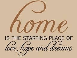 Home Love Hope, Home Wall Art Decal Opt. 1 | Home quotes ... via Relatably.com