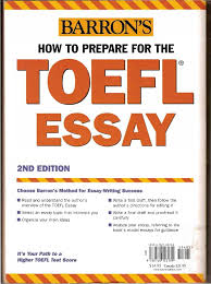 barron 39 s how to prepare for the toefl essay by l