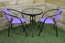 SupaGarden <b>3 Piece</b> Purple Metal <b>Folding Bistro</b> Set #CSFB250 ...