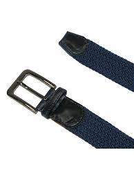 CTM - <b>Men's Elastic Braided</b> Stretch Belt with Silver Buckle ...
