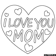 Small Picture I Love You Mom Coloring Page