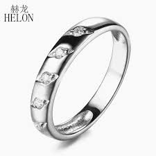 2019 <b>HELON Solid 10K</b> White <b>Gold</b> Certified Round 0.12ct 100 ...