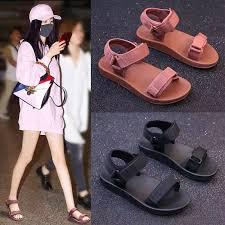 cod <b>new fashion korean</b> flat sandals#CC2(add one size ...