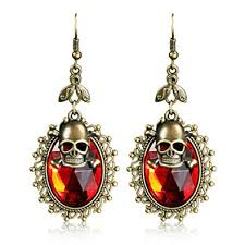 Buy MeniaMeow <b>Gothic</b> Skull <b>Faux Crystal</b> Women Hook Drop ...