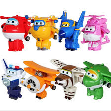 Super Wings Mini Airplane ABS <b>Robot toys</b> Action Figures Super ...