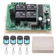For Car <b>4pcs</b> HCS301 433MHz Rolling Code Remote Control+<b>12V</b> ...