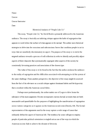 a rhetorical analysis about people like us by david brooks essay example examples of rhetorical analysis essay