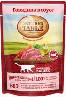 Корм <b>Nature's Table</b> (Нейчерс Тейбл) для кошек влажный купить в ...