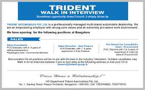 automotive jobs employment and career opportunities from trident job description