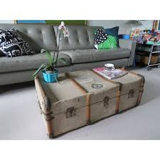 room vintage chest coffee table: vintage shabby chic steamer trunk chest coffee table