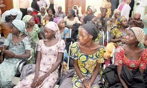 Image result for mrs osinbajo embraces 21 chibok girls released
