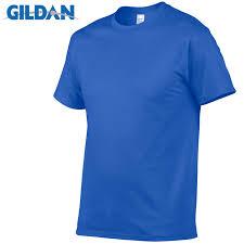 Gildan Brand <b>Hot Sale Men's</b> Summer 100% <b>Cotton</b> T-Shirt <b>Men</b> ...