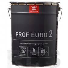 <b>Краска</b> водоэмульсионная EURO 2 <b>PROF</b> глубоко матовая, белая ...