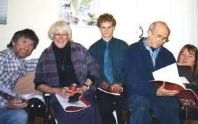 geoff akhurst uk baha i histories book one group in swansea 2004 l to r derek greenbury josie akhurst