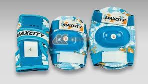 <b>Комплект</b> роликовой <b>защиты Maxcity Teddy</b> blue размер S, цена ...