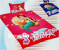 cartoon mermaid printed bedding sets free shipping the little mermaid bedding quilt bed set twin cotton bed