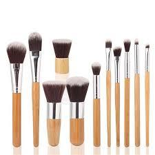 Buy Dama <b>11pcs set Professional</b> Makeup Brushes Set Wood ...