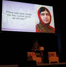 malala takes silicon valley stage favorite author khaled malala they cannot shoot my dreams