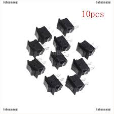 Fahuamaoyi     <b>10Pcs</b> 10*<b>15MM Small</b> Black Rocker Switch KCD1 ...