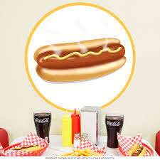 <b>Hot Dog</b> Mustard Food <b>Wall Decal</b> at Retro Planet
