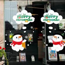 Yousheng Snowman <b>Garland</b> Wall <b>Christmas</b> Santa Sticker <b>Window</b> ...