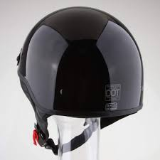 <b>Motorcycle Half Helmet DOT</b> Open Face Cruiser Bike Skull Cap AOD