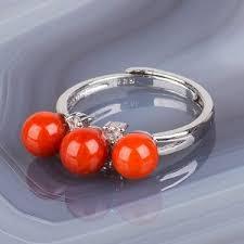 Кольцо с <b>Кораллом</b> (Индонезия) Камень : <b>Коралл</b>; Покрытие ...