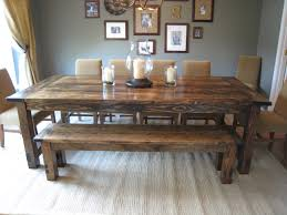 Dining Room Tables With Bench 1000 Ideas About Dinning Room Tables On Pinterest Refinish End