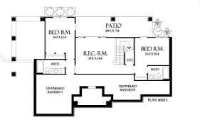 The Riva Ridge House Plans Basement Floor Plan   House Plans by    The Riva Ridge Basement Floor Plan Close this Window