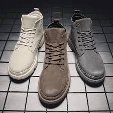 best top 10 <b>men</b> shoes <b>casual breathable</b> lace up <b>leather</b> boots near ...