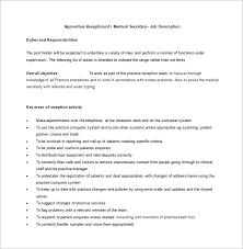 receptionist job description templates – free sample  example    medical receptionist job description free word format download