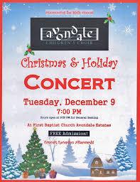 acc christmas choir concert