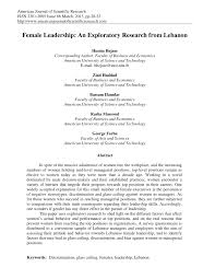 female leadership an exploratory research from pdf female leadership an exploratory research from pdf available
