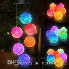 Colour Changing <b>Solar Powered</b> Spiral Wind Spinner <b>Led Light</b> ...