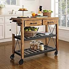 kitchen island mobile: crosley roots rolling rack industrial kitchen cart