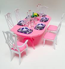 barbie size dollhouse furniture gloria dining room amazoncom barbie size dollhouse