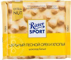 Купить <b>Шоколад Ritter Sport</b> Белый Цельный лесной орех и ...