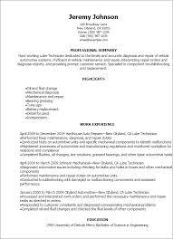 diesel mechanic resume automotive engineer resume sample resume templates lube technician resume automotive mechanic resume sample