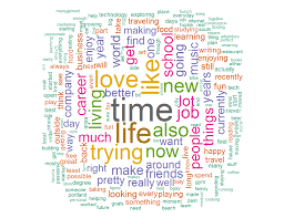 Online Dating Profile Word Clouds   Data Etc
