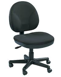 armless black fabric upholstered task chair eurotech o400 armless office chair wheels