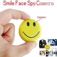 <b>Mini</b> Smile Badge DVR <b>Secret Hidden</b> Covert Spy Camera Smiley ...