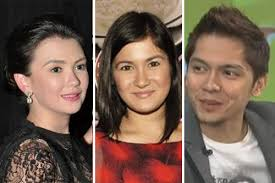 """Angelica Panganiban, Camille Prats and Carlo Aquino. File/Composite photo. MANILA, Philippines -- Angelica Panganiban considered as the """"worst form of ... - 032913_AngelicaCamilleCarlo"""