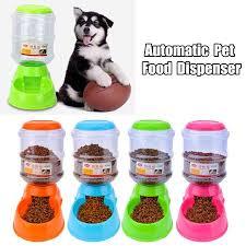 3.5L Large <b>Pet Dog Cat Automatic</b> Food Drink Dispenser Feeder ...