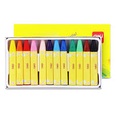 <b>Deli 72079 Oil Pastel</b> Crayon for Children 12PCS-buy at a low ...