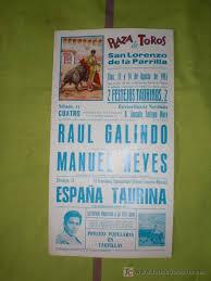 PLAZA DE TOROS DE SAN LORENZO DE LA PARRILLA. PUBLICIDAD. CUENCA. CARTEL DE TOROS. PLAZA DE TOROS DE SAN LORENZO DE LA PARRILLA. GALINDO, REYES. 1983. - 15115043
