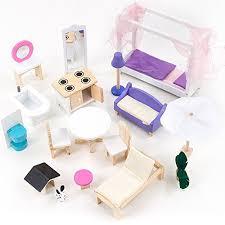 Mobili Per La Casa Delle Bambole : Mamakiddies casa delle bambole a piani in legno incl